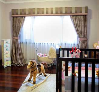 Babys room curtains