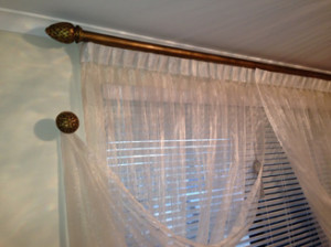 Sheer Rail and Track with Ventian Blinds