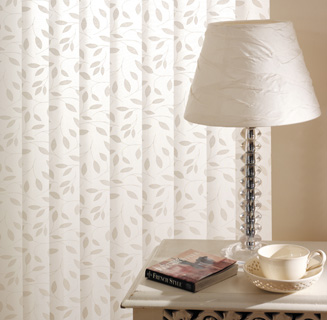 Vertical Blinds in lovely patterned fabric